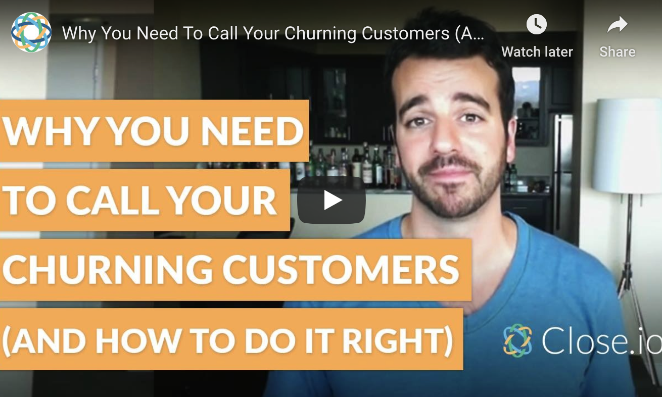 Why you need to call your churning customers (and how to do it right)