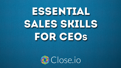 Essential sales skills for CEOs webinar