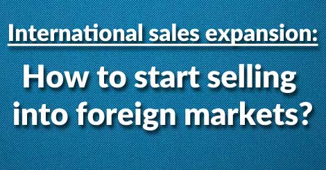 How to expand your sales team internationally