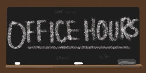 Sales office hours