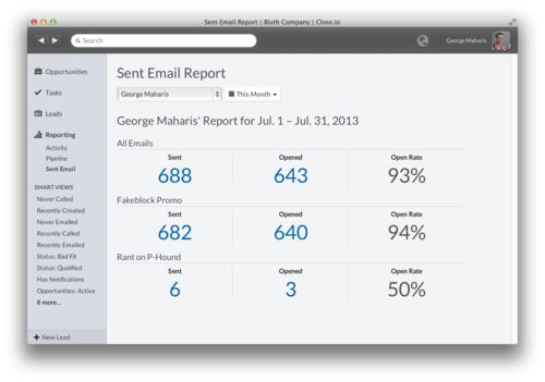 Introducing Sent Email Reporting