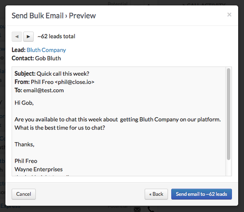 New feature: Bulk Email