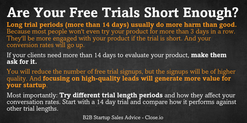 SaaS Startups: Why Your Free Trials Are Way Too Long