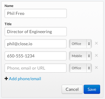 Sweating the UI/UX details in Close: Emails & email addresses