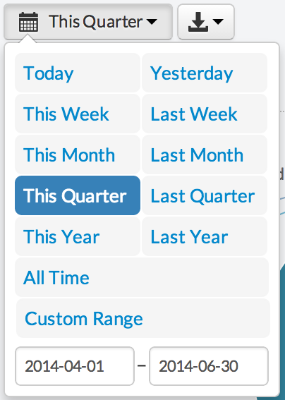 Better UI in the date range picker