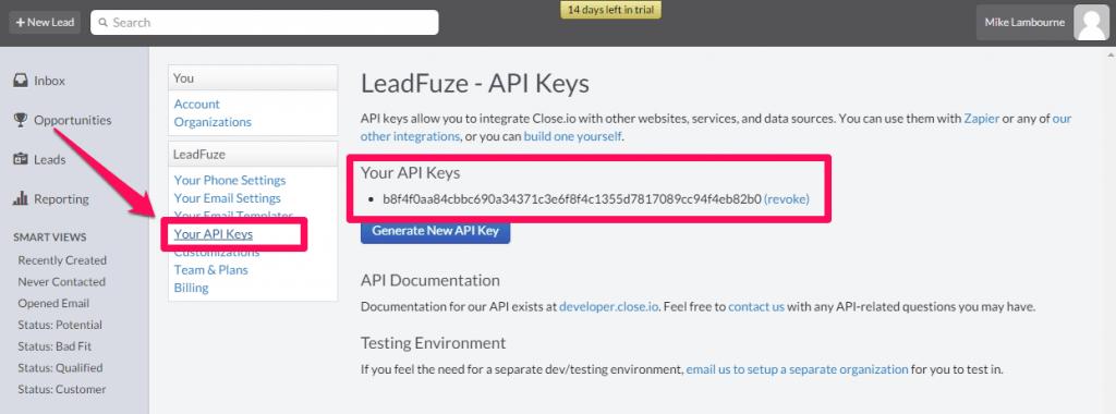 Closeio_API_Keys
