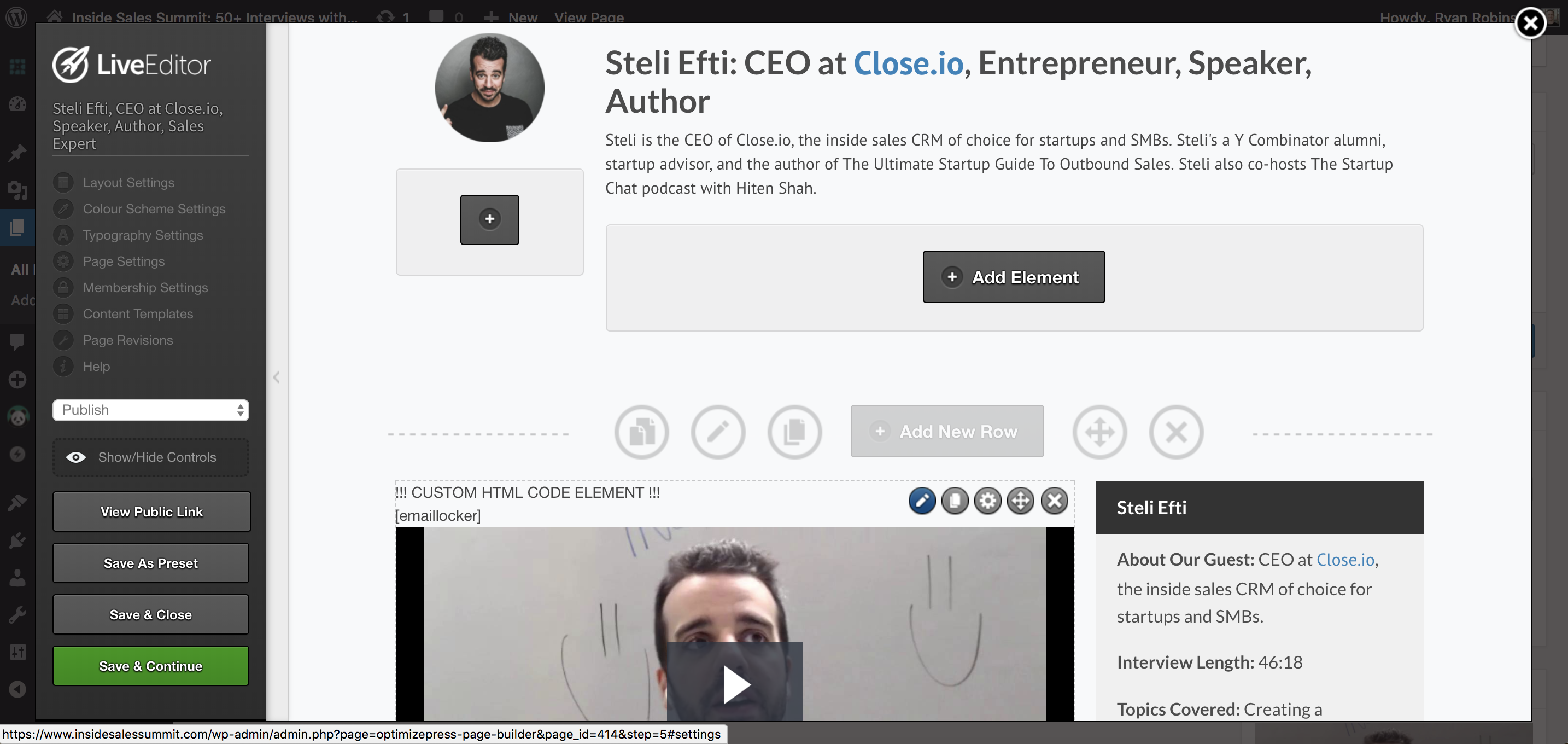 Create virtual summit close io inside sales summit steli optimizepress page.png