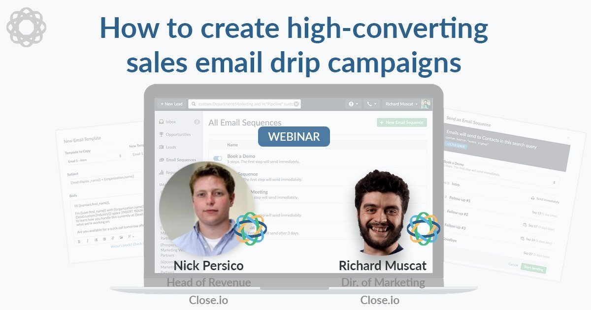 How to create high-converting sales email drip campaigns (webinar)