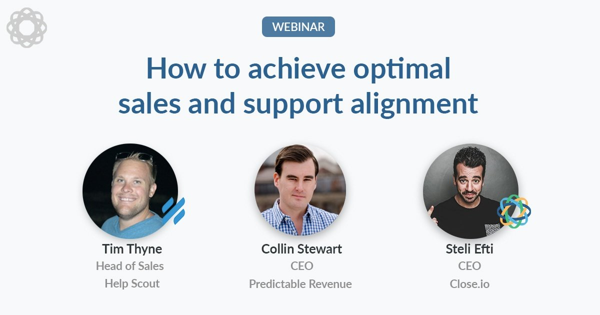 How to achieve optimal sales and support alignment (with Help Scout and Predictable Revenue)