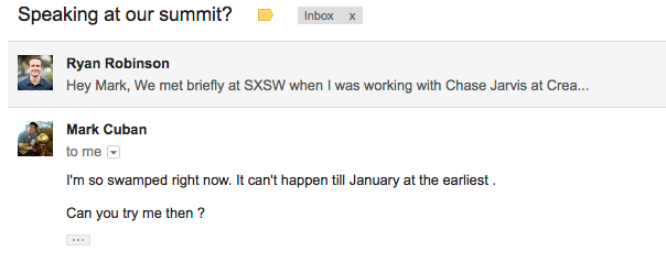 Mark Cuban Email (Could NOT Make it on the Summit).png