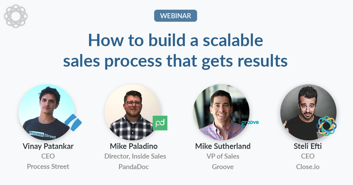 How to build a scalable sales process (Q&A webinar)