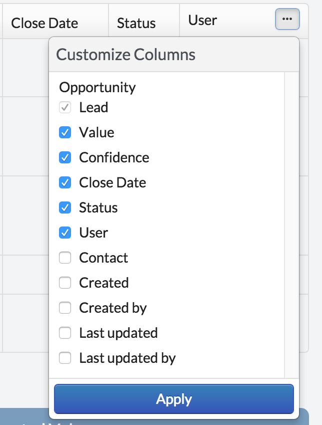Product improvements: opportunities page columns, notification clearing, call quality