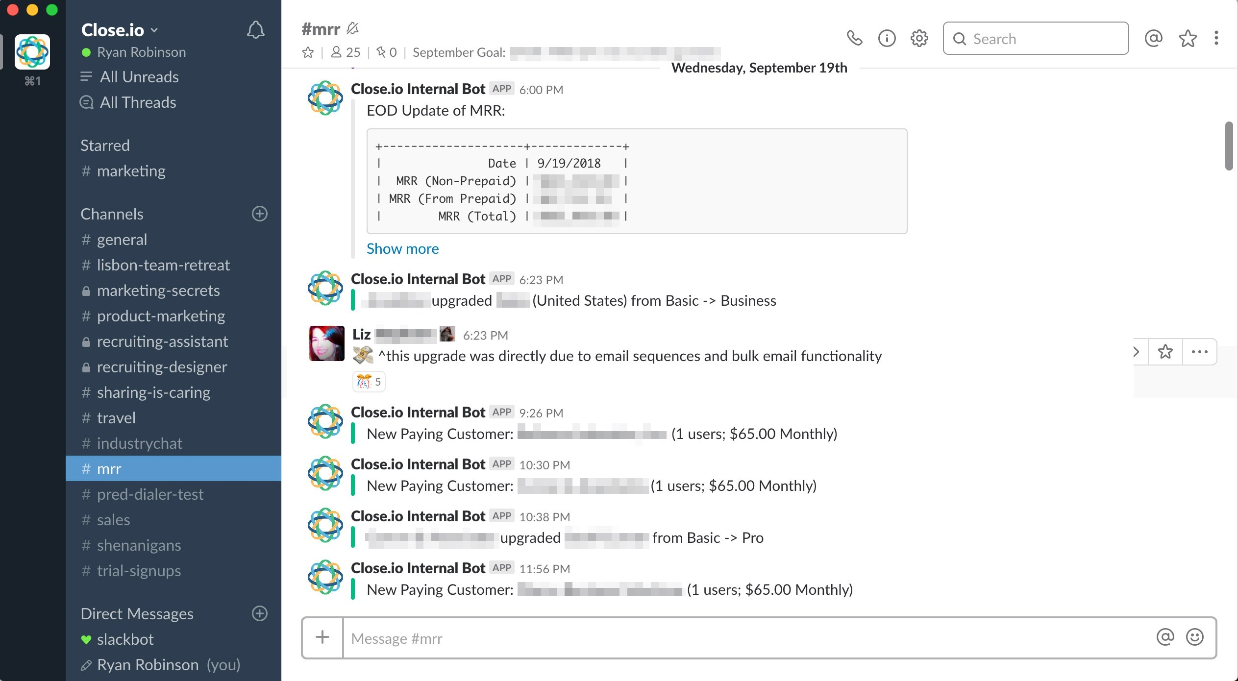 Slack MRR Sales Notifications
