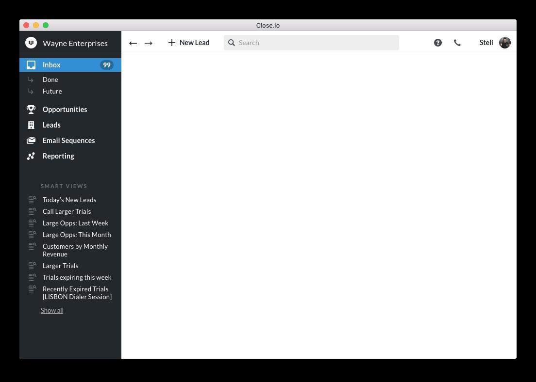 crm sidebar redesign black sidebar