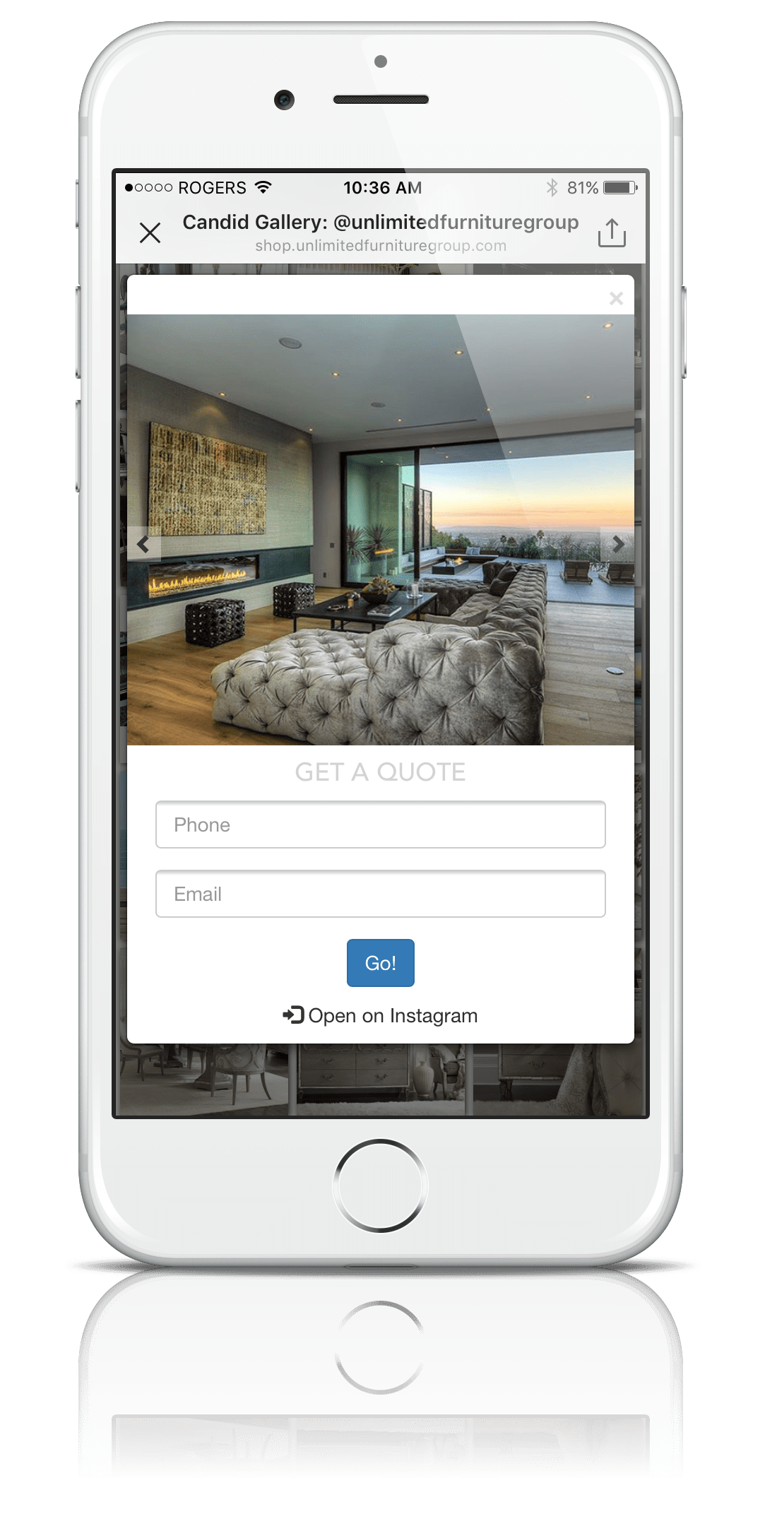 Sales CRM case study: Instagram + Candid + Close = Millions in sales for this luxury furniture company