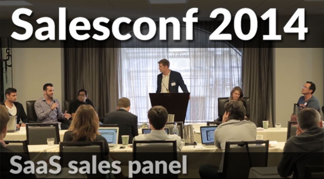 SaaS sales panel with Hiten Shah, Steli Efti & others from Salesconf
