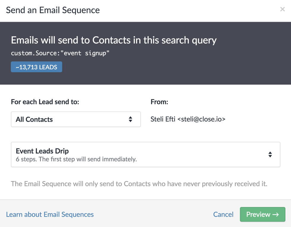 Introducing email sequences: Email drip campaigns for salespeople