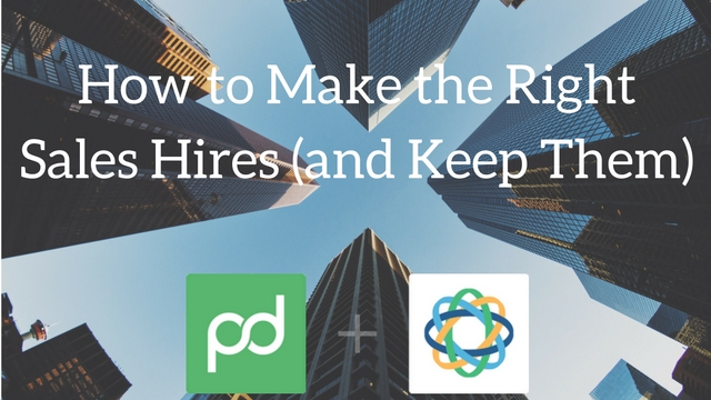 Upcoming webinar: How to hire sales people