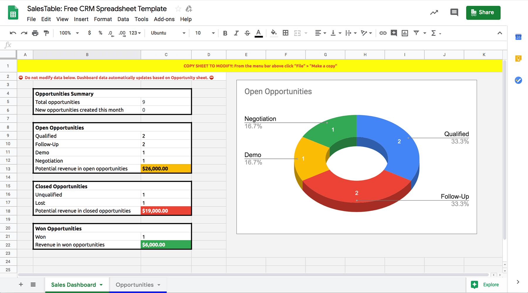 Google-sheets-CRM-template