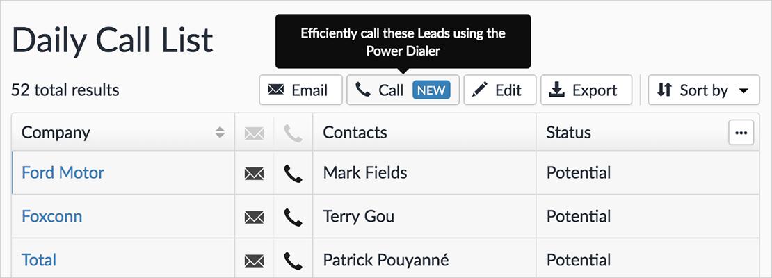 close-app-power-dialer-list