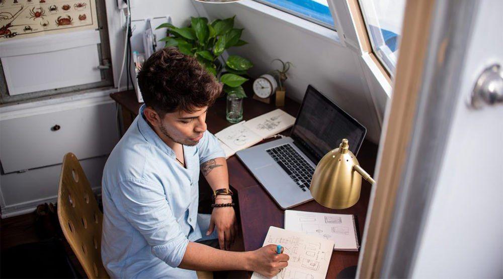 man-brainstorming-at-desk
