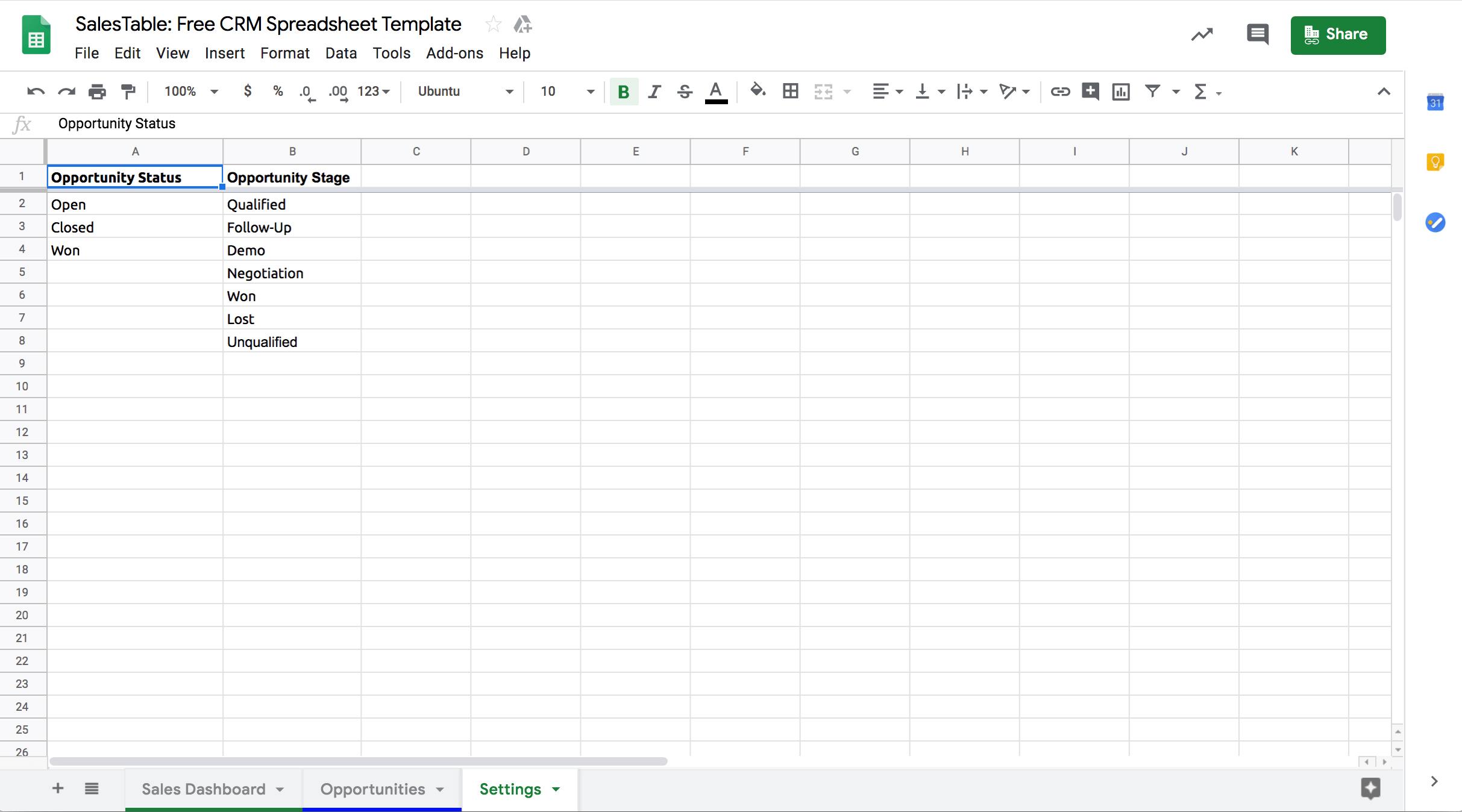 Google-sheets-CRM-template-settings