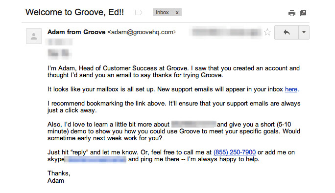welcome-email-example-groove
