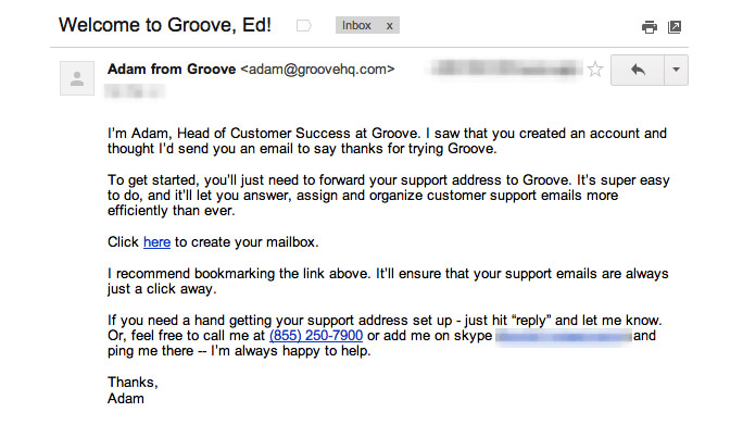 welcome-email-saas-example-groove