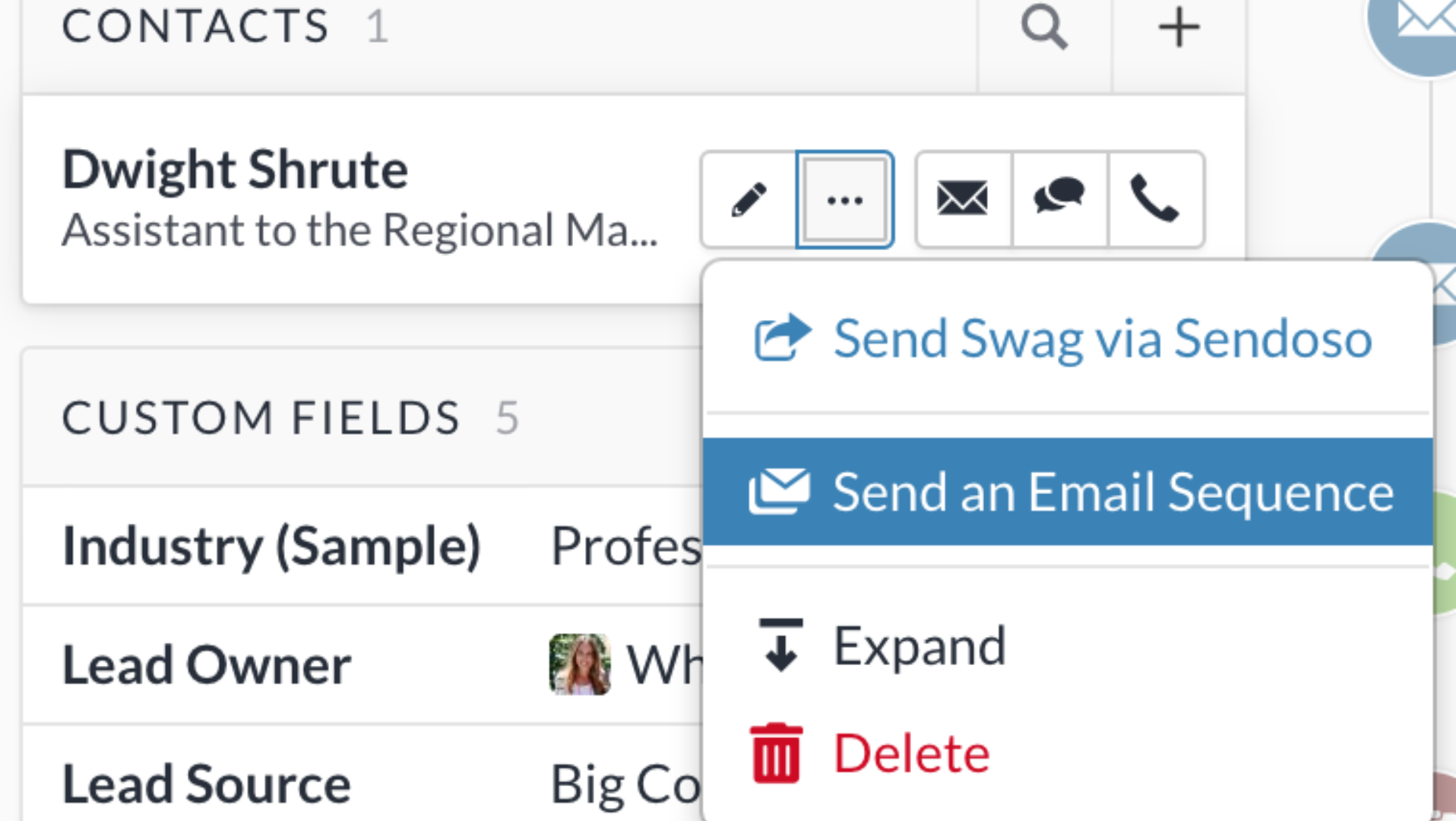 sales CRM with email sequence tool